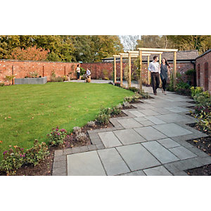 Marshalls Antique Alverno Silver Birch Mixed Size Paving Patio Pack - 15.5 m2