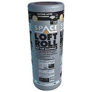 Knauf 100mm Space Loft Roll Bottom Layer Roll - 8.3m2