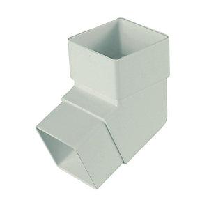 FloPlast RBS2W Square Line Downpipe Offset Bend - White 112.5 Deg x 65mm