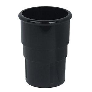 FloPlast RSM1B MiinFlo Round Downpipe Socket - Black 50mm