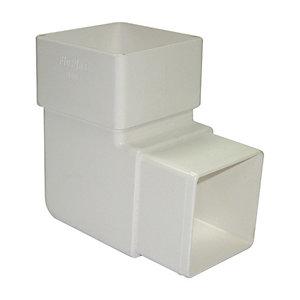 FloPlast RBS1W Square Line Downpipe Offset Bend - White 92.5 Deg x 65mm