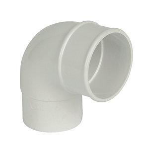 FloPlast RB1W Round Line Downpipe Offset Bend - White 92.5 Deg x 68mm