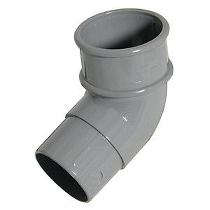 FloPlast RBM2G MinFlo Round Downpipe Offset Bend - Grey 112.5 Deg x 50mm