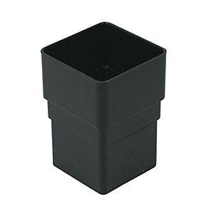 FloPlast RSS1B Square Line Downpipe Pipe Socket - Black 65mm