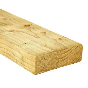 Wickes Treated Kiln Dried C16 Timber - 45 x 145 x 3600 mm