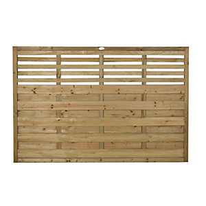 Forest Garden Pressure Treated Kyoto Fence Panel - 6 x 4ft Pack of 3