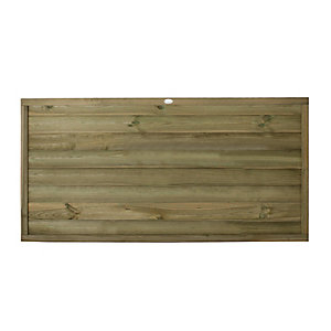 Forest Garden Pressure Treated Tongue & Groove Horizontal Fence Panel - 6 x 3ft Pack of 5