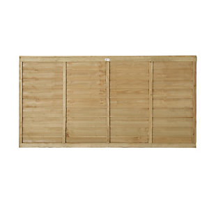 Forest Garden Pressure Treated Overlap Fence Panel - 6ft x 3ft Pack of 5