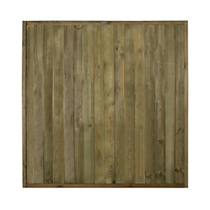 Forest Garden Pressure Treated Tongue & Groove Vertical Fence Panel - 6 x 6ft Pack of 3