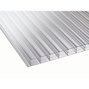 16mm Clear Multiwall Polycarbonate Sheet - 4000 x 2100mm