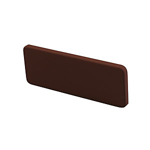 Wickes PVCu Rosewood Window Board End Cap
