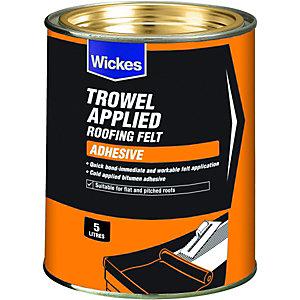 Wickes Trowel On Roofing Felt Adhesive 5L