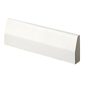 Wickes Chamfered Primed MDF Architrave - 14.5mm x 44mm x 2.1m Pack of 5