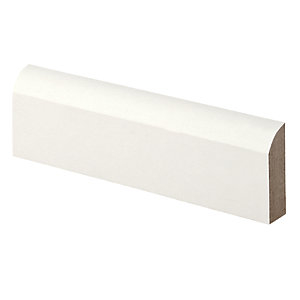 Wickes Bullnose Primed MDF Architrave - 14.5mm x 44mm x 2.1m