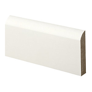Wickes Bullnose Primed MDF Architrave - 14.5mm x 69mm x 2.1m
