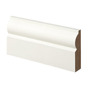Wickes Torus Primed MDF Architrave - 18mm x 69mm x 2.1m