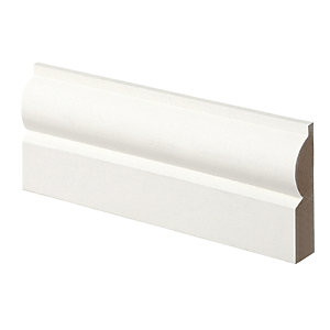 Wickes Torus Primed MDF Architrave - 14.5mm x 57mm x 2.1m