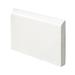 Wickes Bullnose Fully Finished MDF Skirting - 14.5mm x 94mm x 2.4m