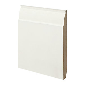 Wickes Dual Purpose Chamfered/Ovolo MDF Skirting - 18mm x 169mm x 3.6m Pack of 2 Hd