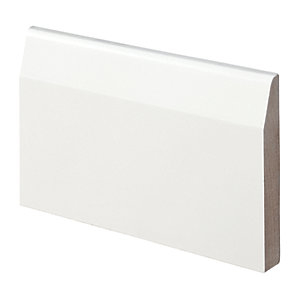 Wickes Chamfered Fully Finished MDF Skirting - 14.5mm x 94mm x 2.4m