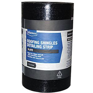 Wickes Roofing Shingles Detailing Strip - Grey 7.5 x 0.3m