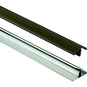 Wickes Universal Glazing Bar for Polycarbonate Sheets - Brown 3m