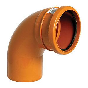 FloPlast D161 Underground Drainage 87.5 Deg Bend Socket -Terracotta 110mm