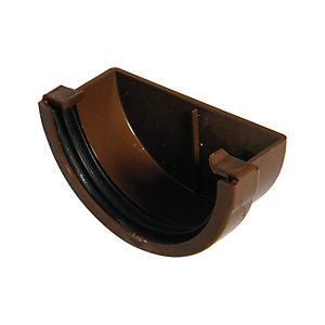 FloPlast REM1BR Miniflo Gutter External Stopend - Brown