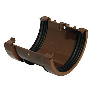 FloPlast RUM1BR Miniflo Gutter Union Bracket - Brown