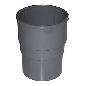 FloPlast RSM1G Miniflo Pipe Socket - Grey 50mm