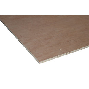 Wickes Non Structural Hardwood Plywood - 3.6mm x 606mm x 1220mm