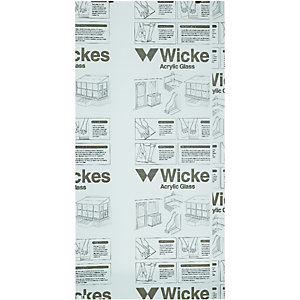 Wickes Durable Acrylic Clear Sheet - 900mm x 1800mm