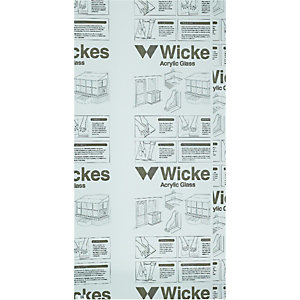 Wickes Durable Acrylic Clear Sheet - 600mm x 1220mm
