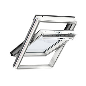 VELUX INTEGRA White Painted Solar Centre Pivot Roof Window - 550 x 1180mm