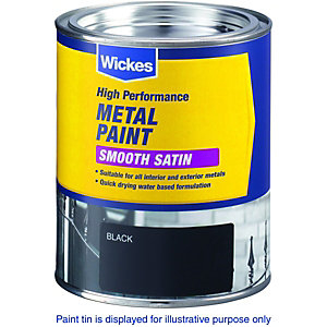 Wickes Metal Paint - Smooth Satin Green 750ml
