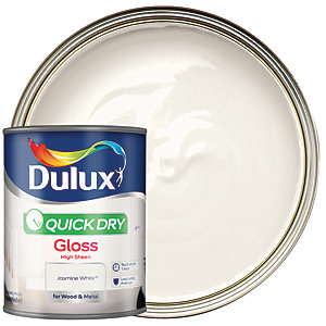 Dulux Quick Dry Gloss Paint - Jasmine White 750ml