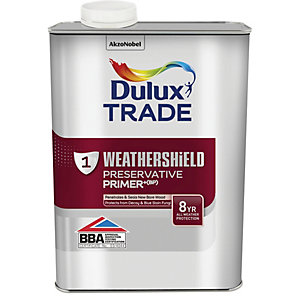 Dulux Trade Weathershield Exterior Preservative Primer+ (BP) - 1L