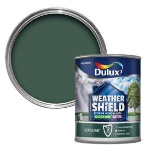 Dulux Weathershield Heathland green Satin Wood & metal paint 0.75L