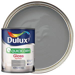 Dulux Quick Dry Gloss Paint - Urban Obsession 750ml