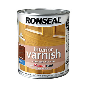 Ronseal Interior Varnish - Satin Dark Oak 750ml