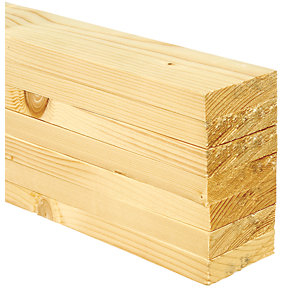 Wickes Whitewood PSE Timber - 18 x 69 x 2400 mm Pack of 7