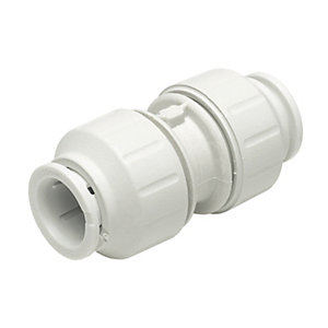 John Guest Speedfit PEM0415W Straight Coupler - 15mm Pack of 10