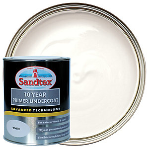 Sandtex 10 Year Primer Undercoat Paint - White 750ml