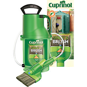 Cuprinol Exterior Colour Paint Spray & Brush 2 in 1 Shed & Fence Pump Sprayer