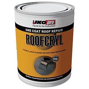 Ikopro Roofcryl One Coat Acrylic Based Roof Repair - Grey 1kg