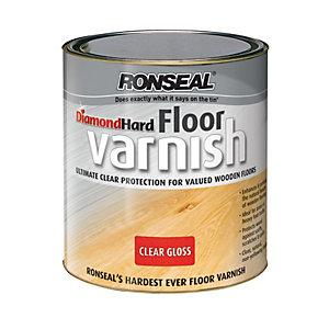 Ronseal Diamond Hard Floor Varnish - Clear Gloss 2.5L
