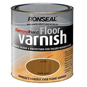 Ronseal Diamond Hard Floor Varnish - Dark Oak 2.5L