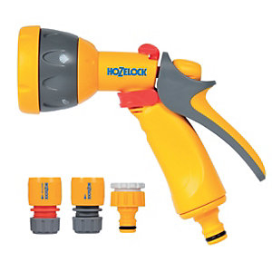 Hozelock Garden Hose Pipe Multi Spray Gun Starter Set