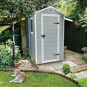 Keter Manor Plastic Shed Grey - 6 x 4 ft