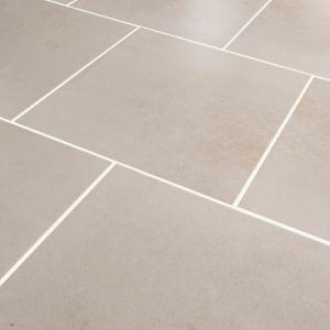Konkrete Ivory Matt Concrete effect Porcelain Floor tile  Pack of 10  (L)426mm (W)426mm